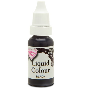 RainbowDust - Black - Liquid Colour 16ml - SimplyCakeCraft