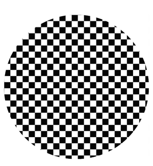 Checkered Checks Black & White Printed Sugar Icing Sheet - SimplyCakeCraft