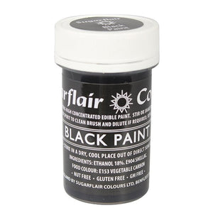 Sugarflair Edible Paint - Black -  - SimplyCakeCraft