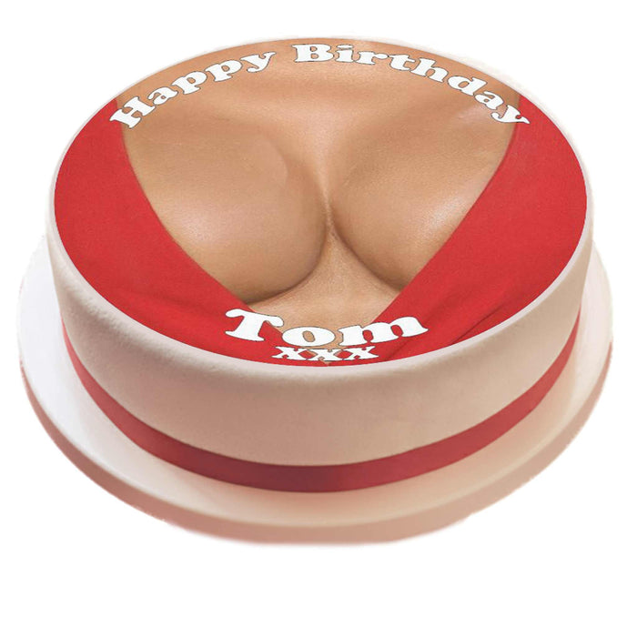 Personalised Boobs Cake Topper