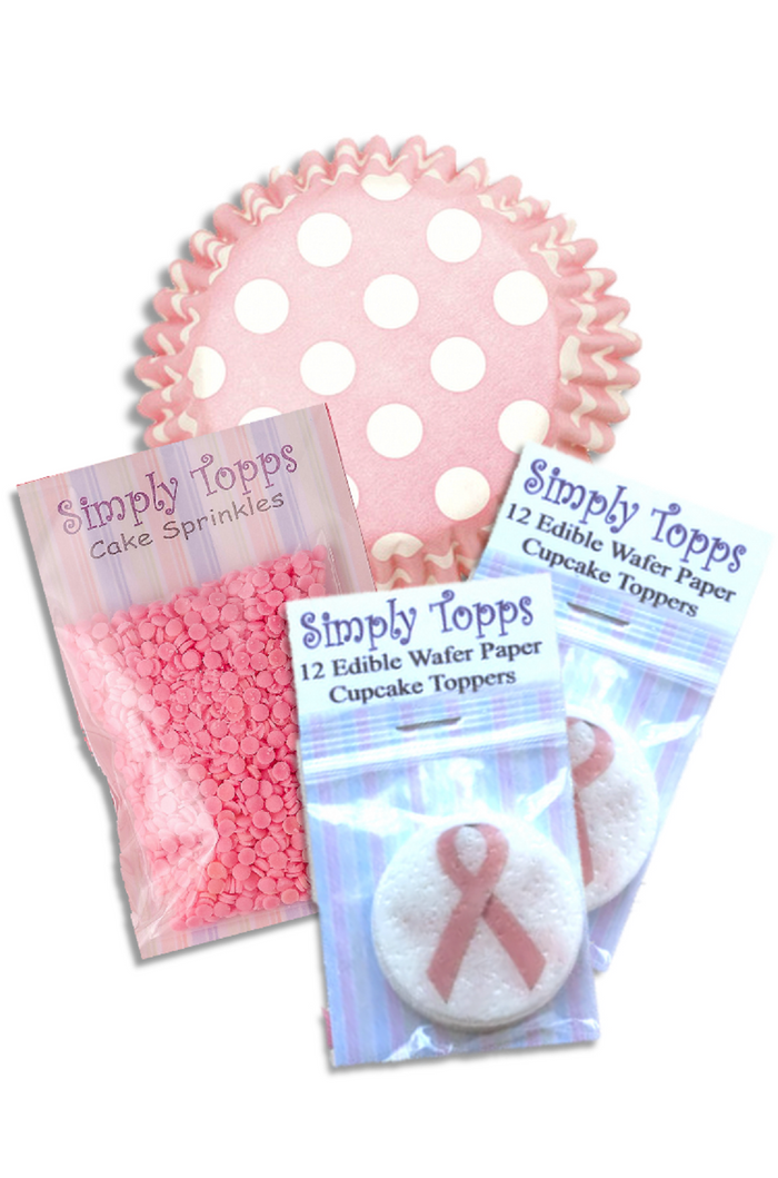 Pink Ribbon Breast Cancer Cupcake Kit