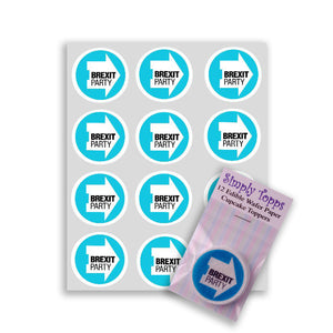 Brexit Party Cupcake Toppers - SimplyCakeCraft