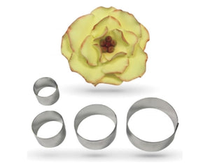 PME Briar Rose Stainless Steel Cutters Set of 4 -  - SimplyCakeCraft