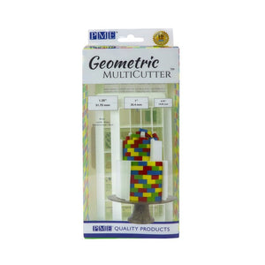 PME Brick Effect Geometric Cutter Set of 3 - SimplyCakeCraft