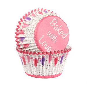 Pink Bunting Cupcake Cases - Pack of 25