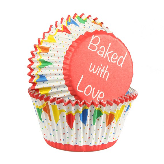 Colourful Bunting Cupcake Cases - Pack of 25
