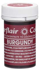 Burgundy Concentrated Spectral Colour Paste 25g - SimplyCakeCraft