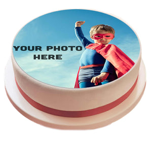 "Personalised 7.5"" Round Icing Sheet Cake Topper - SimplyCakeCraft"