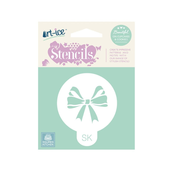 Celebration Bow Round Stencil from SK