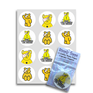 Children In Need Cupcake Toppers - SimplyCakeCraft