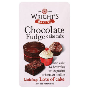 Wright's Chocolate Fudge Cake Mix 500g - SimplyCakeCraft