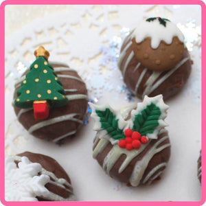 Christmas Embellishments Mould by Katy Sue -  - SimplyCakeCraft