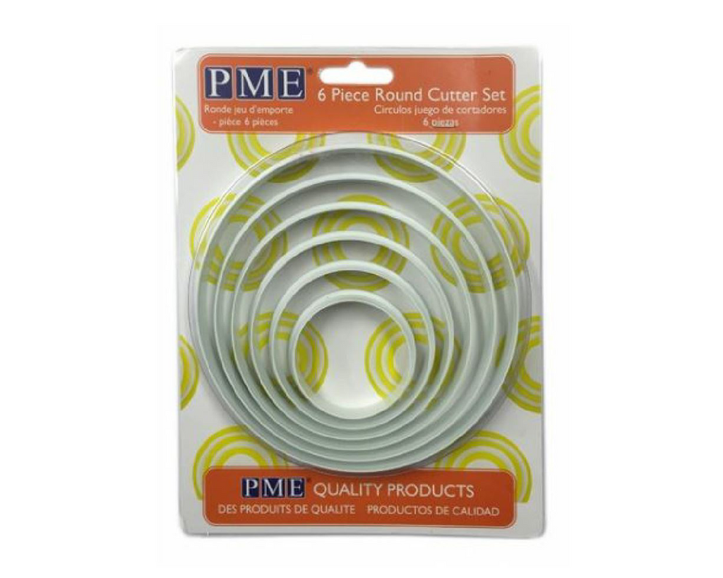 PME Circle Plastic Cutters Set of 6 - SimplyCakeCraft