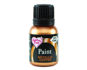 Metallic Copper Rainbowdust Food Paint - SimplyCakeCraft