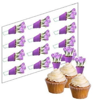 Crocus Flower Cupcake Picks - SimplyCakeCraft