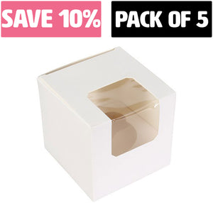 White Single Cupcake/Muffin Box (BULK - PACK OF 5) -  - SimplyCakeCraft