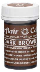 Dark Brown Concentrated Spectral Colour Paste 25g - SimplyCakeCraft