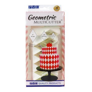 PME Diamond XL Geometric Cutter Set of 3 - SimplyCakeCraft