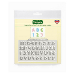Domed Mini Alphabet & Numbers Mould By Katy Sue - SimplyCakeCraft