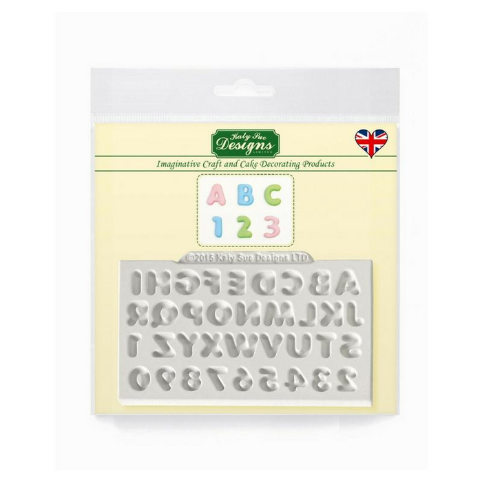 Domed Mini Alphabet & Numbers Mould By Katy Sue
