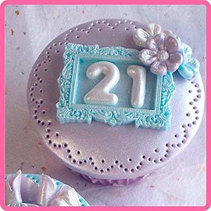 Domed Numbers Silicone Mould By Katy Sue - SimplyCakeCraft