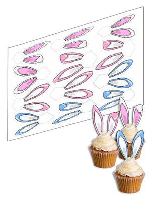 Easter Bunny Ears Cupcake Picks - SimplyCakeCraft
