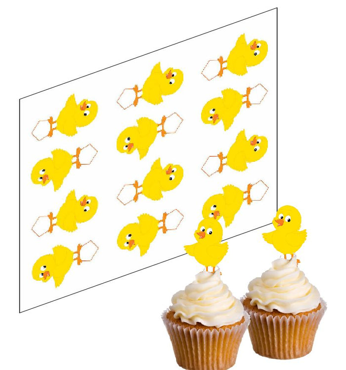 Easter Chick Cupcake Picks