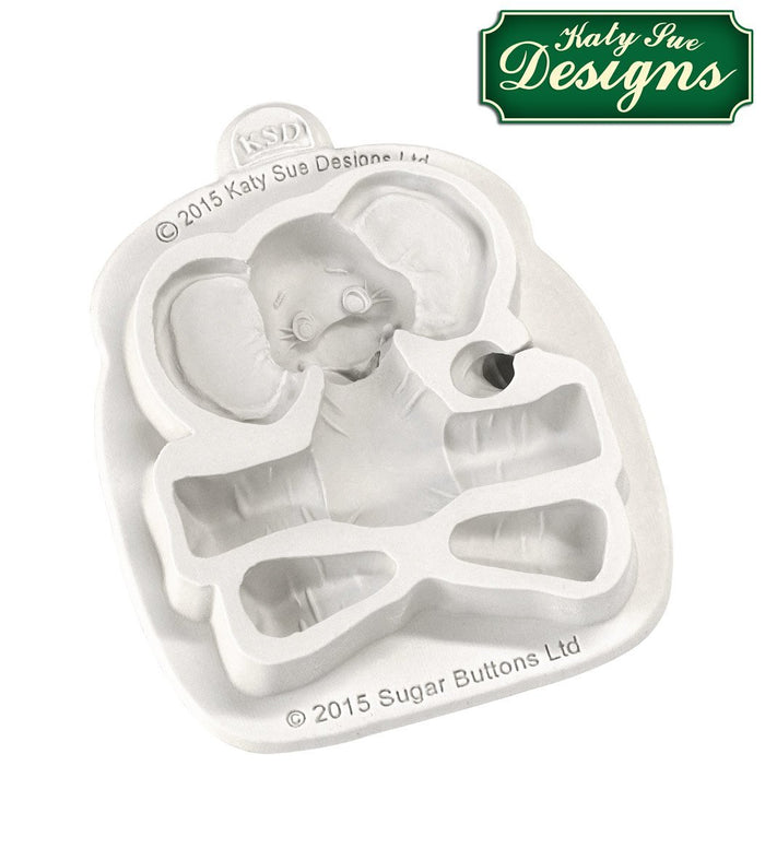 Baby Elephant Silicone Mould By Katy Sue