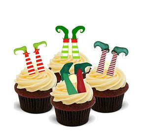 Elf Legs Cupcake Picks - SimplyCakeCraft
