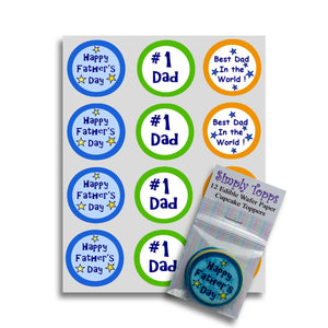 Colourful Father's Day Cupcake Toppers -  - SimplyCakeCraft