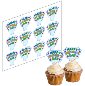 Father's Day Cupcake Picks -  - SimplyCakeCraft