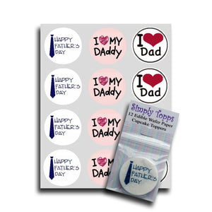 Happy Father's Day Cupcake Toppers - SimplyCakeCraft
