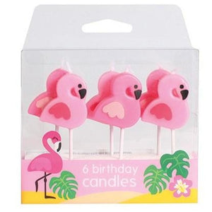 Flamingo Candles - 6 Piece - SimplyCakeCraft