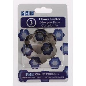 PME Flower Stainless Steel Cutters Set of 3 - SimplyCakeCraft