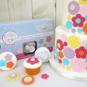 Push Easy Flower Cutters Set - SimplyCakeCraft
