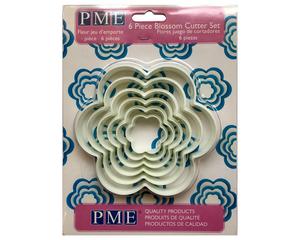 PME Blossom Plastic Cutters Set of 6 - SimplyCakeCraft