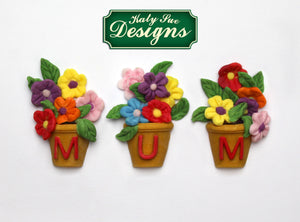 Alphabet Flower Pots Silicone Mould By Katy Sue - SimplyCakeCraft
