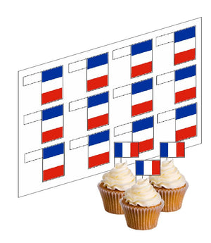 France / French Flag Cupcake Picks - SimplyCakeCraft