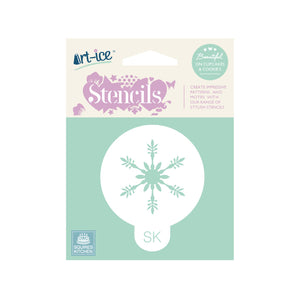 Frosty Snowflake Round Stencil from SK - SimplyCakeCraft