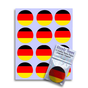 Germany / German Flag Cupcake Toppers - SimplyCakeCraft