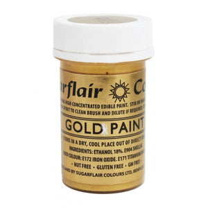 Sugarflair Edible Paint - Gold - SimplyCakeCraft