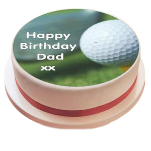 Personalised Golf Cake Topper - SimplyCakeCraft