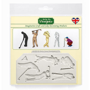 Golf Silhouettes Silicone Mould By Katy Sue -  - SimplyCakeCraft