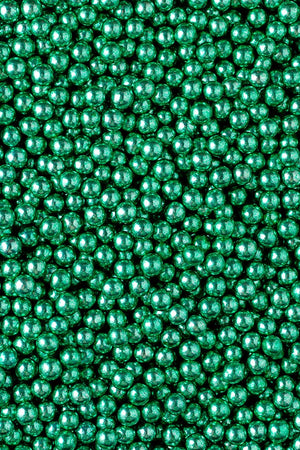 Metallic Pearls - Green 6mm - SimplyCakeCraft