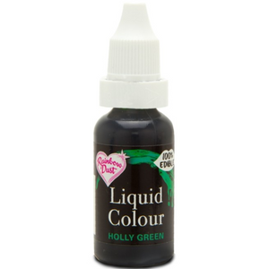 RainbowDust - Holly Green - Liquid Colour 16ml - SimplyCakeCraft