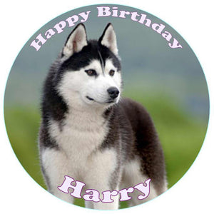 Personalised Husky Cake Topper - SimplyCakeCraft