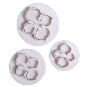Hydrangea Flower Plunger Cutter Set of 3 - SimplyCakeCraft