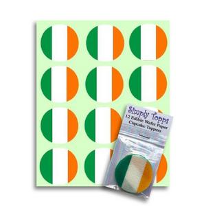 Ireland / Irish Flag Cupcake Toppers - SimplyCakeCraft
