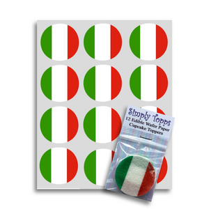 Italy / Italian Flag Cupcake Toppers - SimplyCakeCraft