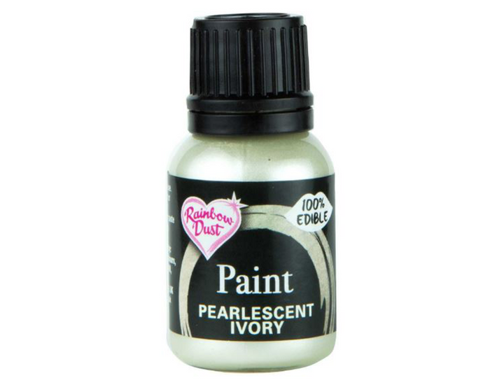 Pearlescent Ivory Rainbowdust Food Paint